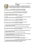 Cell Organelles Vocabulary Worksheet with a Secret Message