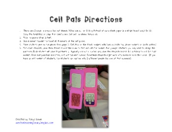 Cell Pals - Student Grouping/Partner Method