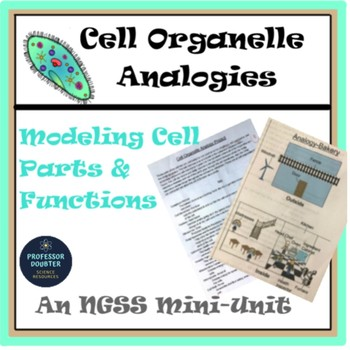 Cell Parts Organelles Analogies NGSS Unit MS-LS1-2