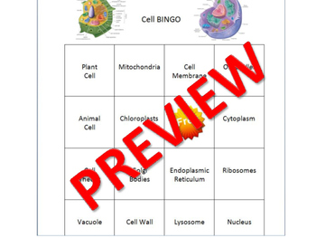 Cell Parts Organelles & Cell Theory Review Game with Science Lesson Plan SOL VA