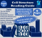 Guided Reading: Cell parts, Organelles, Structures, and Their Functions