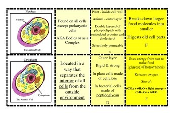 Cell Parts made EASY