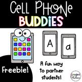 Cell Phone Buddies (Find a Partner)- Alphabet Matching