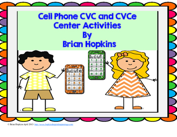 Cell Phone CVC and CVCe Texting Code, ABC Order, and Sorting Fun!