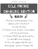 Cell Phone Charging Station Rules