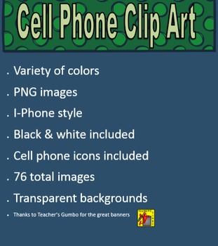 Cell Phone Clip Art, Commercial Use OK