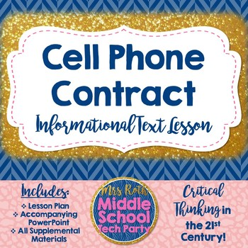 Cell Phone Contract Informational Text Lesson