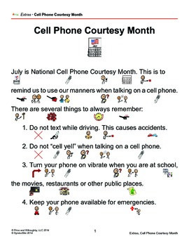 Cell Phone Courtesy