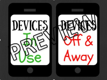 Cell Phone & Devices Poster Grey & Black