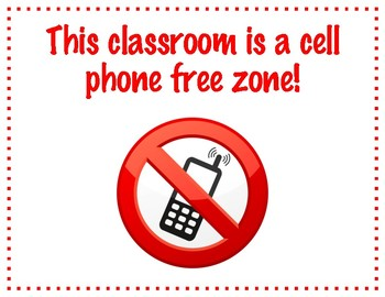 Cell Phone Free Zone