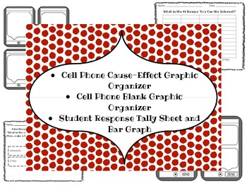 Cell Phone Graphic Organizer Cause Effect and Blank with Bar Graph Activity