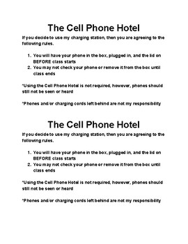 Cell Phone Hotel Signs