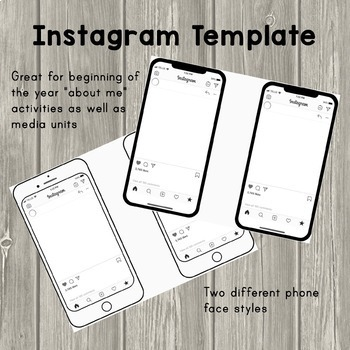 Cell Phone Instagram Template