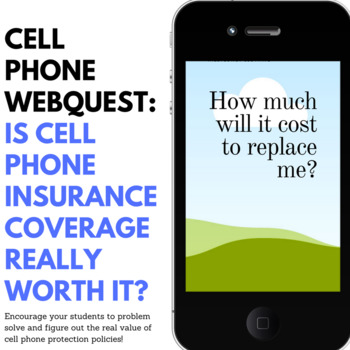 Cell Phone Insurance research activity - webquest by All