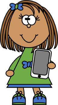 Cell Phone Kids Clip Art