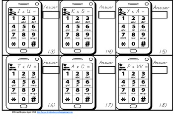 Cell Phone Multiplication Texting