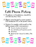 Cell Phone Policy Poster