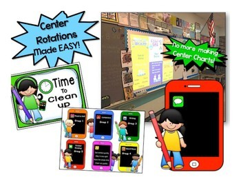 Cell Phone Reading Center Rotations ~ Editable Powerpoint for 5 Reading centers
