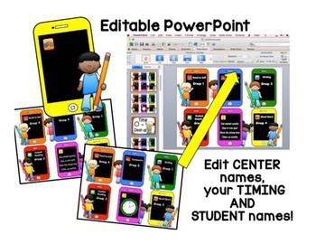 Reading Center Rotations Editable Powerpoint iPhone Theme
