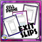 Exit Slips - Cell Phone Exit Ticket Out