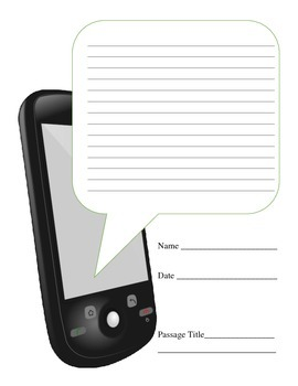 Cell Phone Text Message Graphic Organizer