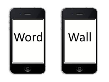 Cell Phone Word Wall Letters