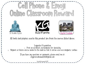 Cell Phone and Emoji Online Classroom Reward