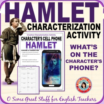 Cell Phone for Characters from Lit, History, or Headlines--Hamlet-Editable-Fun!