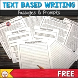 Text Based Writing -Cell Phones August Passages and Writing Prompts: FSA Writing