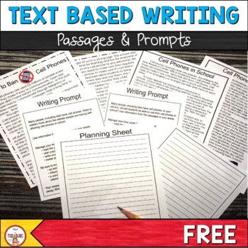 Text Based Writing | Cell Phones Passages and Writing Prompts | FSA Writing