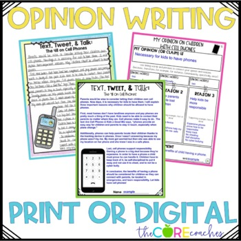 Cell Phones Paired Texts: Writing On-Demand Opinion Argumentative Essay