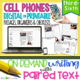 Cell Phones• Print or Digital Paired Text Passages & Writing | Distance Learning