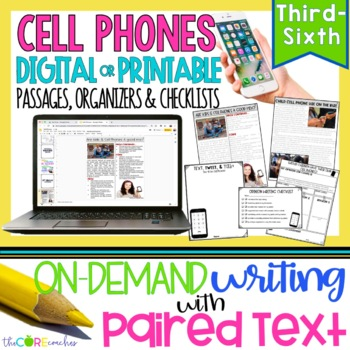 Cell Phones • Print or Digital Paired Text Passages | for Distance Learning