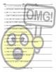 Cell Phones-Texting Acronyms Scrambled Sentences Worksheet