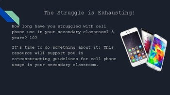 Cell Phones in the Secondary Classroom - a guide to policy co-construction