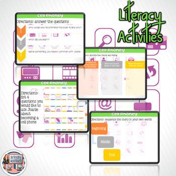 Cell Phoney Digital Book Companion - Grades 3-5