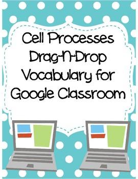 Cell Processes Drag-n-Drop Vocab for Google Classroom