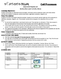 Cell Processes Game Puzzle with Worksheet