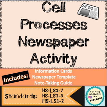 Cells and Cell Processes Newspaper Activity