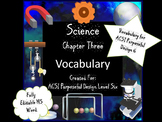 Cell Processes Vocabulary for Purposeful Design Level Six