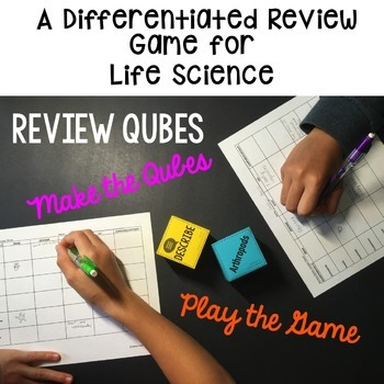 Cell Processes and Energy Review Qubes Game