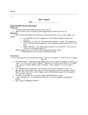 Cell Project Directions, Checklist, and Rubric