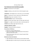 Cell Quiz Study Guide