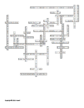 Cell Reproduction, Division, and DNA Crossword for Middle School Science