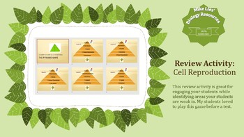 Cell Reproduction Pyramid Review Game