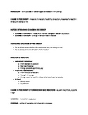 Cell Respiration/Cellular Metabolism Quick Review (Study Aid/Handout)