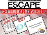 Science Cell Division Biology Escape Review Task Card Game