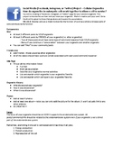 Cell Social Media Project with Rubric