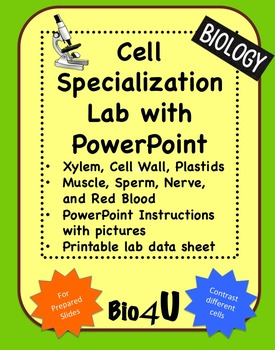 Cell Specialization Lab and PowerPoint