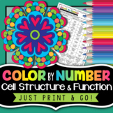 Cells Color by Number - Science Color By Number | Biology Distance Learning